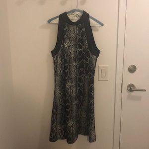 ⬇️ Black Snakeprint Michael Kors Mini Dress, Sz 10